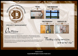 Diggstown Construction website