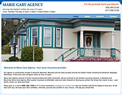 Marie Gary Agency website